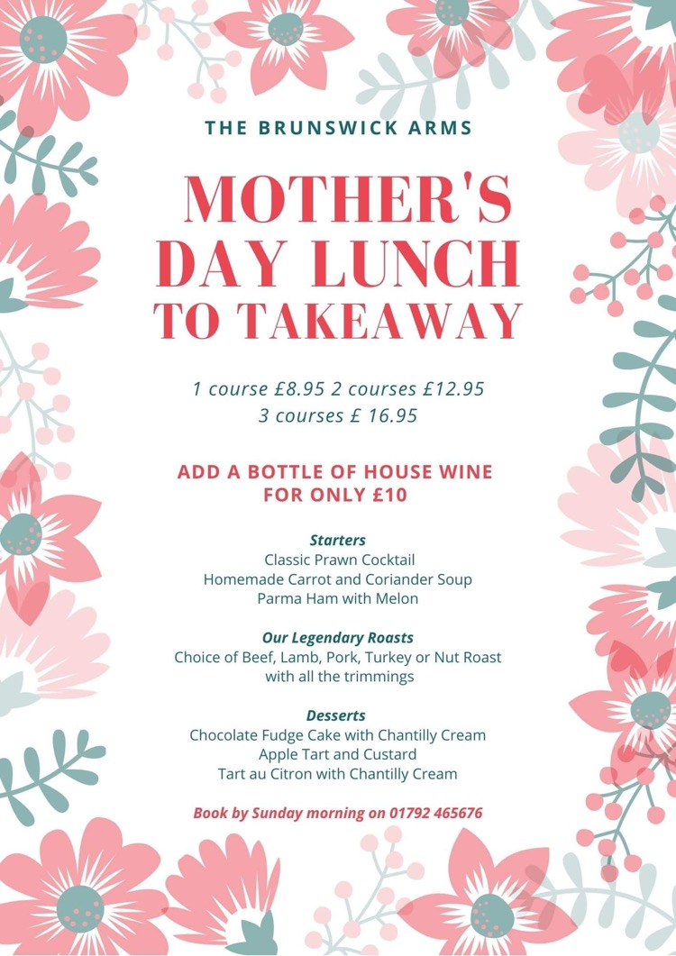 Mothers day Menu (Takeaway)